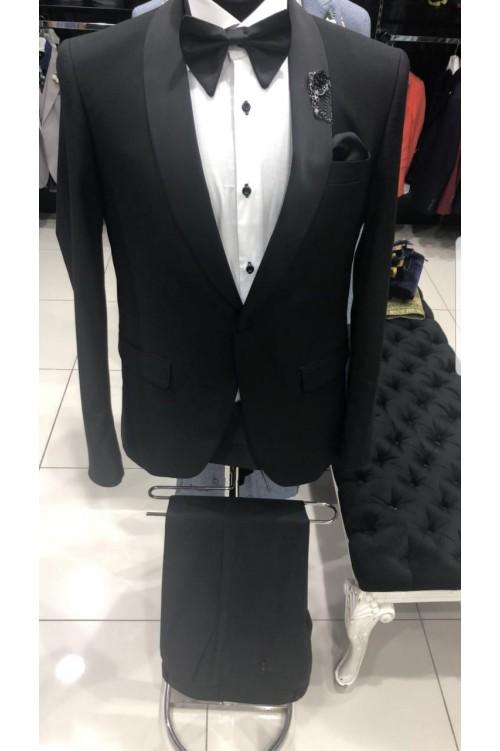 Черный классический смокинг Slim Fit