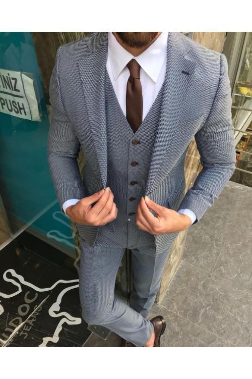 Строгий тройка мужской костюм G128
