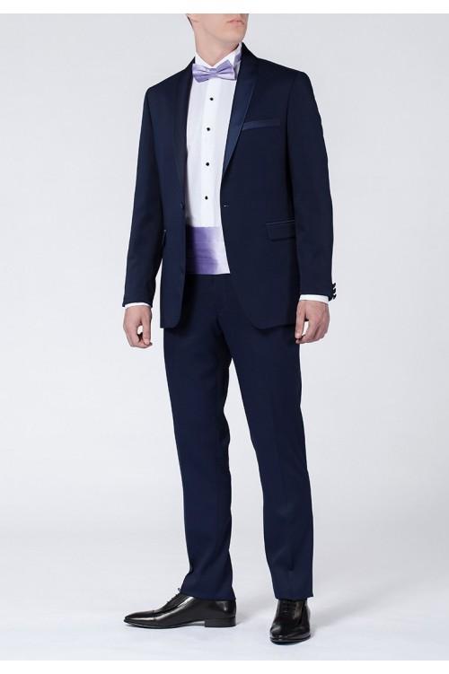 Темный синий элегантный мужской смокинг G184