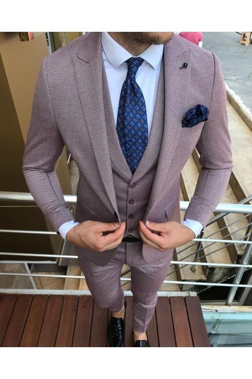 Свадебный костюм пурпурный G34