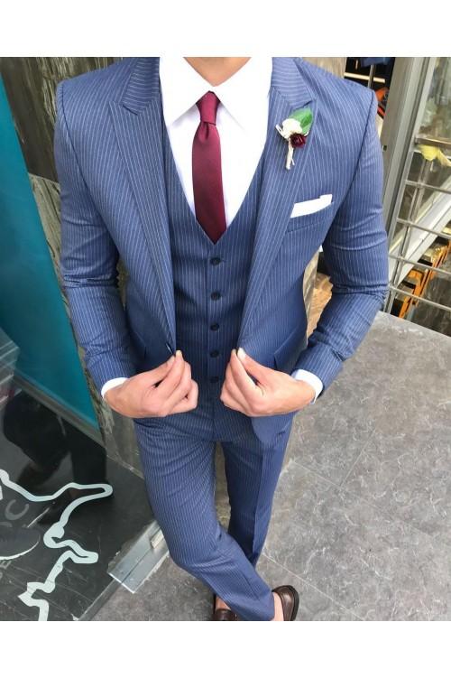 Праздничный костюм синий G131