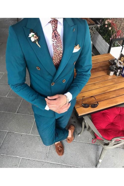 Необычный мужской строгий костюм G132