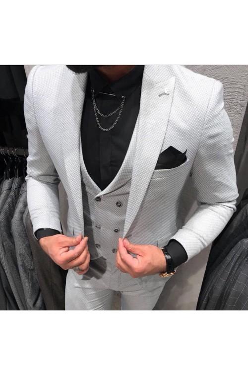 Светло-серый парадный костюм G139