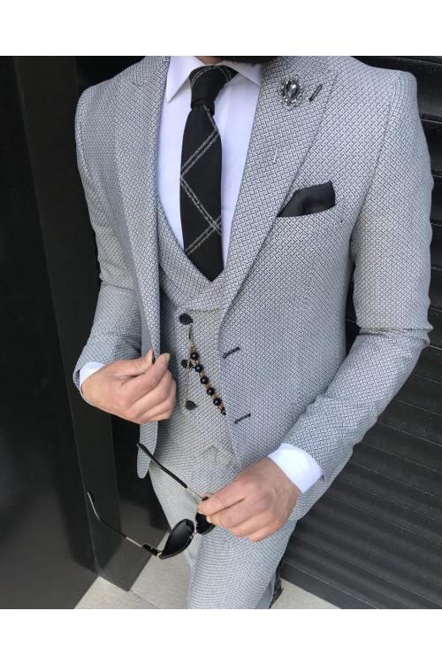 Модный серый костюм G145
