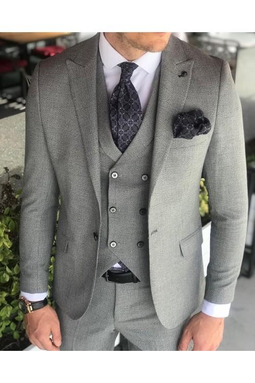 Темно-серый официальный костюм G50