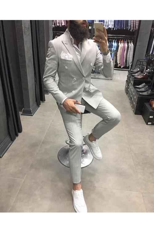 Свадебный костюм в белую полоску G53