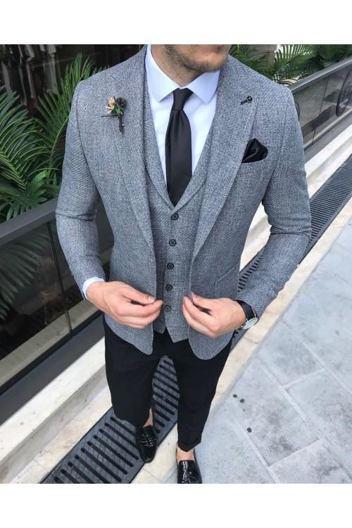 Свадебный костюм серый G64