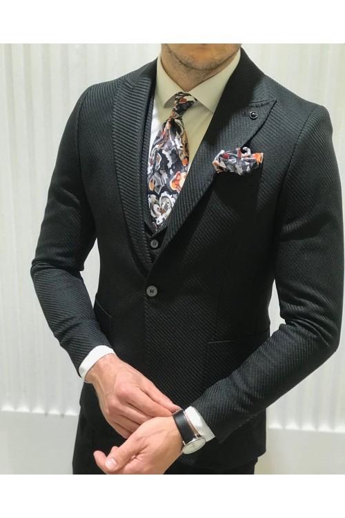 Свадебный костюм черный G65